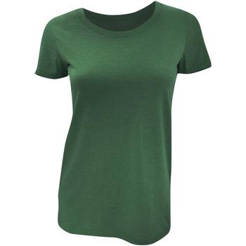 Abbigliamento Donna T-shirt maniche corte Bella + Canvas BE8413 Smeraldo Triblend