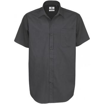 Abbigliamento Uomo Camicie maniche corte B And C Sharp Grigio scuro