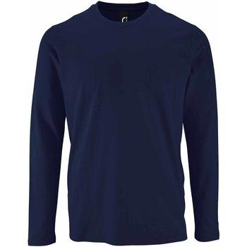 Abbigliamento Uomo T-shirts a maniche lunghe Sols 2074 Blu Navy