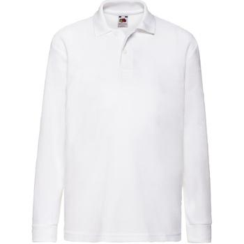 Abbigliamento Bambino Polo maniche lunghe Fruit Of The Loom 63201 Bianco