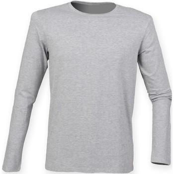 Abbigliamento Uomo T-shirts a maniche lunghe Skinni Fit SF124 Grigio Erica