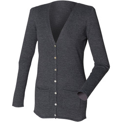Abbigliamento Donna Gilet / Cardigan Henbury Fine Knit Grigio