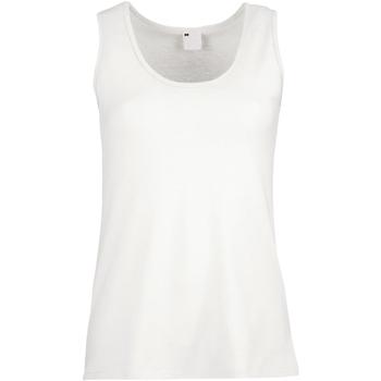 Abbigliamento Donna Top / T-shirt senza maniche Universal Textiles Fitted Bianco neve