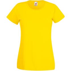 Abbigliamento Donna T-shirt maniche corte Universal Textiles 61372 Giallo brillante