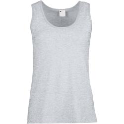 Abbigliamento Donna Top / T-shirt senza maniche Universal Textiles Fitted Grigio screziato