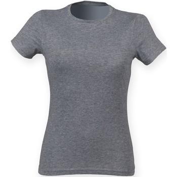 Abbigliamento Donna T-shirt maniche corte Skinni Fit SK161 Grigio Triblend