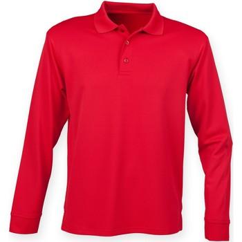 Abbigliamento Uomo Polo maniche lunghe Henbury HB478 Rosso