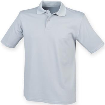 Abbigliamento Uomo Polo maniche corte Henbury HB475 Grigio Argento