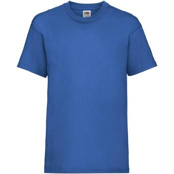 Abbigliamento Unisex bambino T-shirt maniche corte Fruit Of The Loom 61033 Blu reale