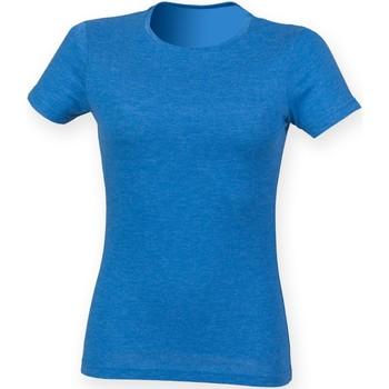 Abbigliamento Donna T-shirt maniche corte Skinni Fit SK161 Blu Triblend