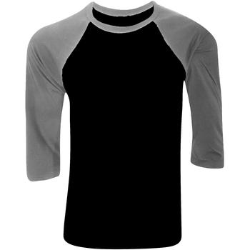 Abbigliamento Uomo T-shirts a maniche lunghe Bella + Canvas CA3200 Nero/Erica Grigia
