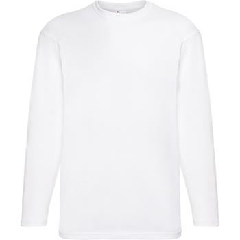 Abbigliamento Uomo T-shirts a maniche lunghe Universal Textiles 61038 Bianco neve
