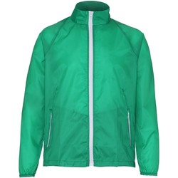 Abbigliamento Uomo giacca a vento 2786 TS011 Verde Kelly/Bianco