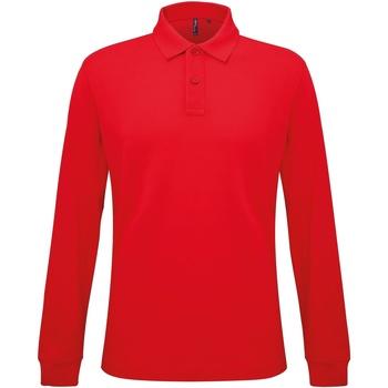 Abbigliamento Uomo Polo maniche lunghe Asquith & Fox AQ030 Rosso