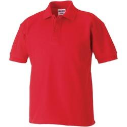 Abbigliamento Bambino Polo maniche corte Jerzees Schoolgear 65/35 Rosso acceso