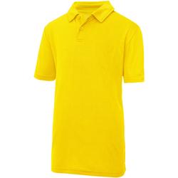 Abbigliamento Unisex bambino Polo maniche corte Awdis JC40J Giallo