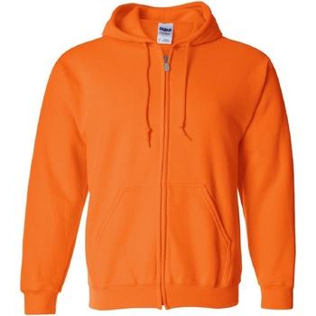Abbigliamento Uomo Felpe Gildan 18600 Arancio sicurezza