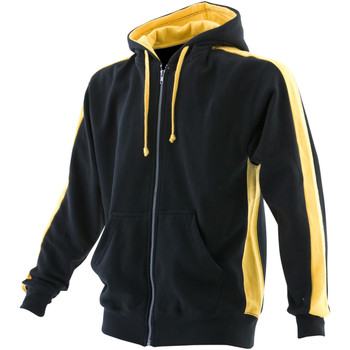 Abbigliamento Uomo Felpe Finden & Hales LV330 Nero/Giallo