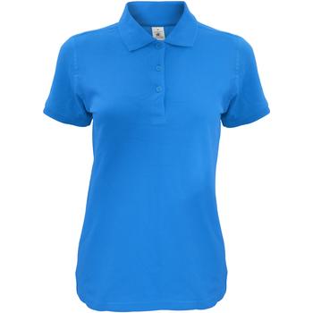 Abbigliamento Donna Polo maniche corte B And C Safran Blu Atollo