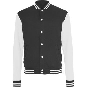 Abbigliamento Uomo Giubbotti Build Your Brand BY015 Nero/Bianco