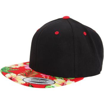 Accessori Cappellini Yupoong YP003 Nero/Fiori rosso
