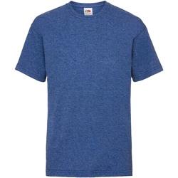 Abbigliamento Unisex bambino T-shirt maniche corte Fruit Of The Loom 61033 Blu reale screziato retro