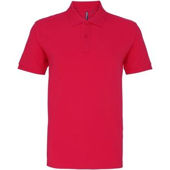 Abbigliamento Uomo Polo maniche corte Asquith & Fox AQ010 Rosa acceso