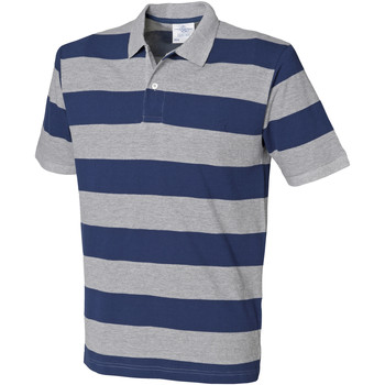 Abbigliamento Uomo Polo maniche corte Front Row FR210 Erica grigia/Blu navy