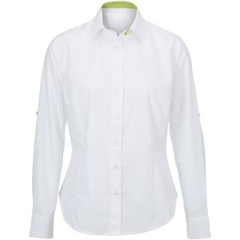 Abbigliamento Donna Camicie Alexandra AX060 Bianco/Lime