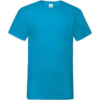 Abbigliamento Uomo T-shirt maniche corte Fruit Of The Loom 61066 Blu azzurro