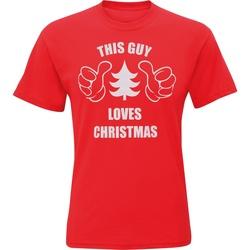 Abbigliamento Uomo T-shirt maniche corte Christmas Shop CJ200 Rosso