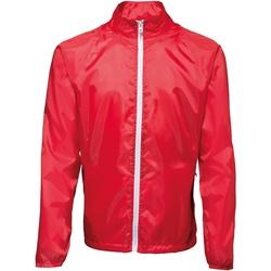 Abbigliamento Uomo giacca a vento 2786 TS011 Rosso/Bianco
