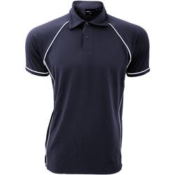 Abbigliamento Uomo Polo maniche corte Finden & Hales Piped Blu navy/Bianco