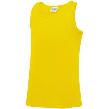 Abbigliamento Unisex bambino Top / T-shirt senza maniche Awdis JC07J Giallo Sole