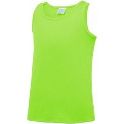Abbigliamento Unisex bambino Top / T-shirt senza maniche Awdis JC007B Verde elettrico