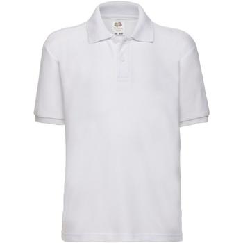 Abbigliamento Bambino Polo maniche corte Fruit Of The Loom 63417 Bianco