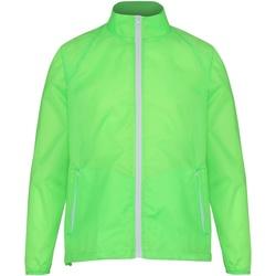 Abbigliamento Uomo giacca a vento 2786  Verde Lime/Bianco