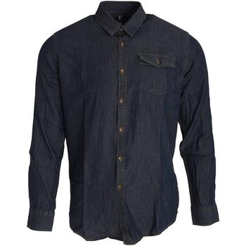 Abbigliamento Uomo Camicie maniche lunghe Premier PR222 Indaco