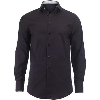 Abbigliamento Uomo Camicie maniche lunghe Alexandra Hospitality Nero/Bianco
