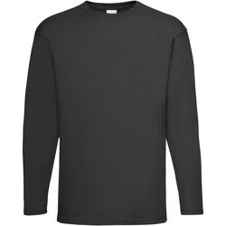 Abbigliamento Uomo T-shirts a maniche lunghe Universal Textiles 61038 Nero