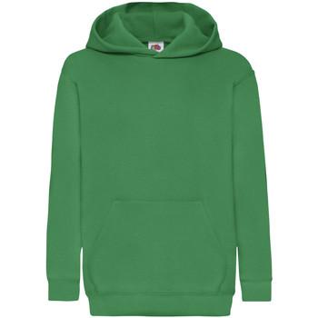 Abbigliamento Unisex bambino Felpe Fruit Of The Loom 62043 Verde kelly