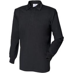 Abbigliamento Uomo Polo maniche lunghe Front Row FR100 Nero