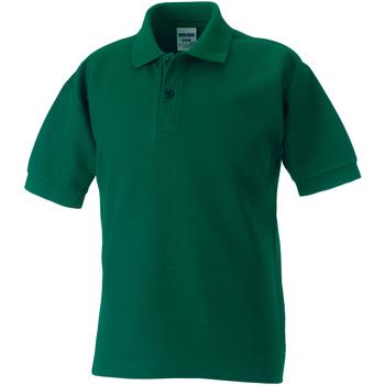 Abbigliamento Bambino Polo maniche corte Jerzees Schoolgear 65/35 Verde bottiglia