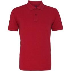 Abbigliamento Uomo Polo maniche corte Asquith & Fox AQ010 Rosso Melange