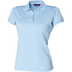 Abbigliamento Donna Polo maniche corte Henbury Coolplus Azzurro