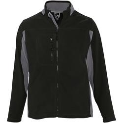 Abbigliamento Uomo Felpe in pile Sols 55500 Nero/Grigio Medio