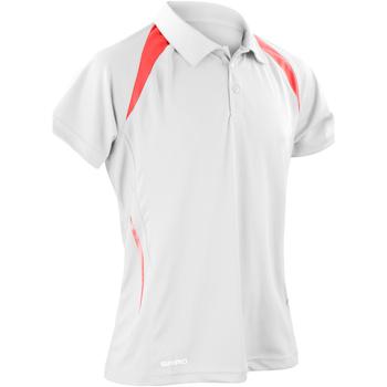 Abbigliamento Uomo Polo maniche corte Spiro S177M Bianco/Rosso