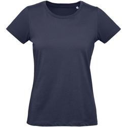 Abbigliamento Donna T-shirt maniche corte B And C Inspire Blu scuro