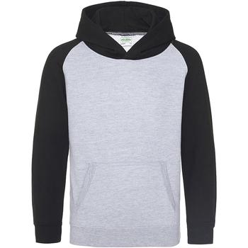 Abbigliamento Unisex bambino Felpe Awdis JH09J Grigio/Nero