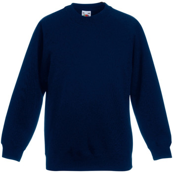 Abbigliamento Unisex bambino Felpe Fruit Of The Loom 62033 Blu scuro